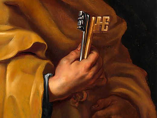 Studio-of-Sir-Peter-Paul-Rubens-Saint-Peter-Detail-keys